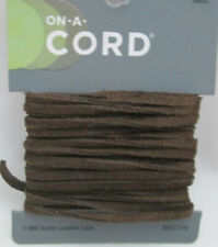On a Cord 3mm Flat Suede Lace - 3 Yards Brown