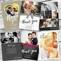 Personalised Photo Wedding Gift Present Thank You Cards inc envelopes