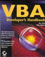 VBA Developer's Handbook , Getz, Ken