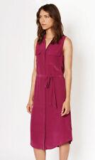 Nwt Equipment Tegan Silk Midi Shirt Dress, Malbec (Wine) Size S $308