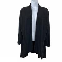Chico's Travelers Open Cardigan Jacket Slinky 3/4 Sleeve Women's Size 2