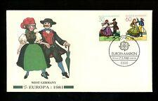 Postal History Germany Fdc #1349-1350 Europa dancing Fleetwood 1981