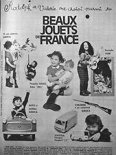 PUBLICITÉ 1966 BEAUX JOUETS DE FRANCE POUPÉE NANO JOUSTRA PEUGEOT J7 DJIM EUREKA