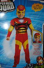 Kostüm~USA~92-98-104~IRON MAN~Karneval~Fasching~Muskeln~Soft Maske~Avengers~rot