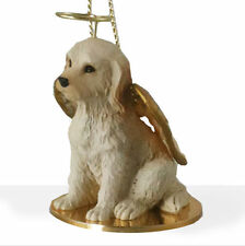 Labradoodle Dog Figurine Ornament Angel Statue Hand Painted Cream