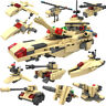 Military Battleship Tank Cannon Fighter Building Bricks Construction Blocks Toy