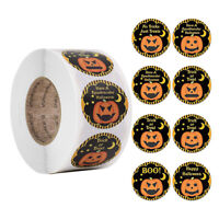 500Pcs/Roll Halloween Pumpkin Decor Labels Seal Stickers DIY Gift Paper Sticker