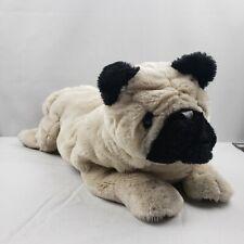 "Folkmanis Pug Dog Hand Puppet Plush 16"""