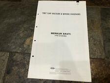 1987 Merkur XR4Ti Wiring Diagrams Electrical Service Manual