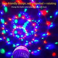3W Colorful Rotating Stage LED Light Bulb Projector Lamp Disco Ball Party C A1C7
