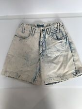 VTG Acid Wash Mom Jeans High Waist Shorts 80's 90's Misses Juniors 7 8