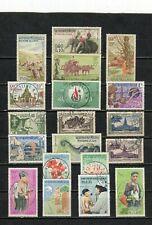 LAOS - Lot de timbres tous différents