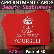 Appointment Cards for beauty salons,therapists, make up, Pack of 50 KC