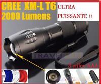 ULTRA PUISSANTE TOP QUALITE 2000 lux lumens TORCHE  LED AVENTURE VOYAGE SURVIE