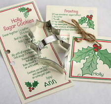 ANN CLARK~HOLLY LEAF~ tin cookie cutter~MADE IN USA (NEW)