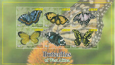 Liberia 2011 MNH Butterflies of West Africa Pansy Swallowtail 6v M/S Stamps