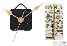 Acctim reloj movimiento kit con números 3 longitudes de tallo modelo - 79433, 79443, 79453
