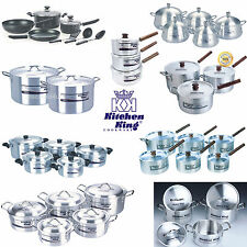 Cookware Saucepans Stock Soup Pots with Lid Professional Stew Catering Set