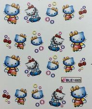 Nail Art Water Decals Hello Kitty on Skateboard BLE1665