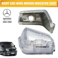 Right Side Wing Mirror Indicator Turn Signal light Cover For Mercedes Sprinter