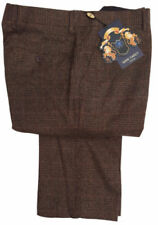 Pantalones de hombre marrón de poliéster