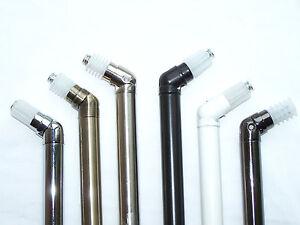 19mm Bay Window Curtain Pole Corner Bend Joint Elbow Brass Silver Black White Ch