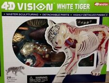 4D Vision  White Tiger Anatomy Scupture Model Kit - Puzzle 26091