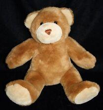 "Build A Bear BABW Plush TEDDY BEAR 14"" Brown Cream Feet Soft Toy Stuffed Animal"