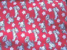 """Disney Dalmatians """"Pups & Stars""""~Felt Back Quilting Fabric~39 1/2"""" x 58 1/2""""+"""
