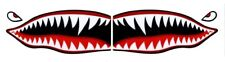 "Flying Tigers shark teeth decal sticker 3"" tall x 7"" long WWII Military Airplane"