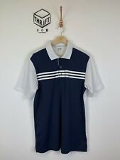 ADIDAS GOLF, Mens Size M, Navy/White, 3 Stripe, Fitted Golf Polo Shirt,*VGC*