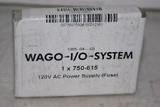 WAGO I/O System AC Power Supply W/FUSE 120VAC  750-615