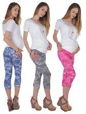 Embarazo Capri Patrón Leggings Pantalones para Embarazadas Peinada Algodón