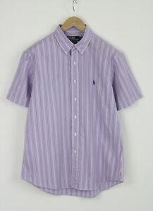 POLO BY RALPH LAUREN CUSTOM FIT Men's (UK) 43 or ~XL S/S Striped Shirt 25759-JS