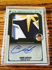 2015 Topps Museum Chris Archer Auto Emerald 5 Color Patch 1/1 Tampa Bay Rays