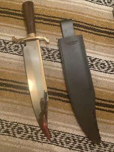 Gil Hibben Old West Bowie Knife w/Sheath Survival Alamo Western Fighting Knife