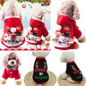 Pet Warm Dog Cat Jacket Coat Puppy Clothes Winter Sweater Christmas Apparel