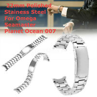 22mm Uhrenarmband Poliert Rostfrei Stahl für Omega Seamaster Planet Ocean 007