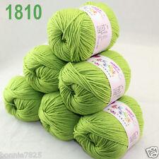 Sale 6 ballsx 50gr DK Baby Soft Cashmere Silk Wool hand knitting Crochet Yarn 10