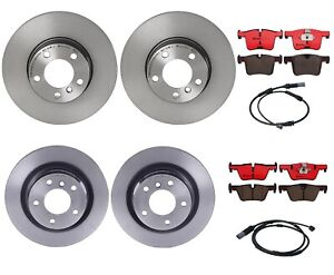 Brembo Front and Rear Brake Kit Disc Rotors Ceramic Pads Sensors For BMW F22 F30