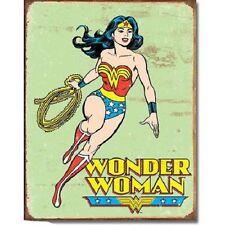 Wonder Woman Comic Super Hero DC Marvel Distressed Retro Decor Metal Tin Sign