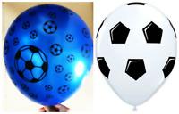 "100 PCS Balloons Football Print Metallic Balloon 30cm-12"" Pannu Assorted Colours"