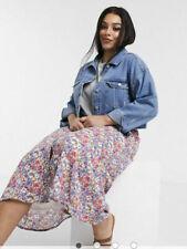 Wednesday's Girl Skirt  Size 8,12,20,22 Button Through Midi Vintage Floral GB09