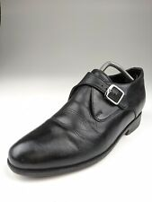 Dons Elevator Shoes Black Leather Monk Strap Sz 8