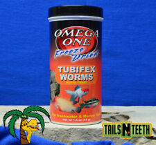 Omega One Freeze Dried Tubifex Worms 44g - NutriTreat for Freshwater/Marine Fish