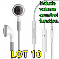 Lot 10 Earphone EARBUDS Headset W/h Mic For iPhone 3GS 4 4G 4S 5S 5C iPod Touch