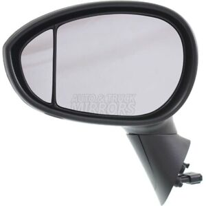 Fits 12-15 Fiat Fiat 500 Driver Side Mirror Replacement - Heated - Chrome