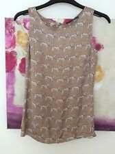 Primark Dalmation Print Silky Crop Top, UK Size 6 Immaculate