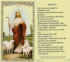 """+Holy Card+-""""Psalm 23"""" .The Lord is My Shepherd."""" {Holy Card} (Hc19)"""