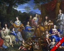 KING LOUIS XIV THE SUN KING OF FRANCE & FAMILY PAINTING ART REAL CANVAS PRINT